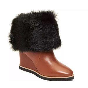 Taryn Rose Massima Genuine Long Hair Boot 9.5